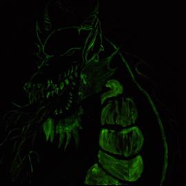 Drache der Nachts Leuchtet